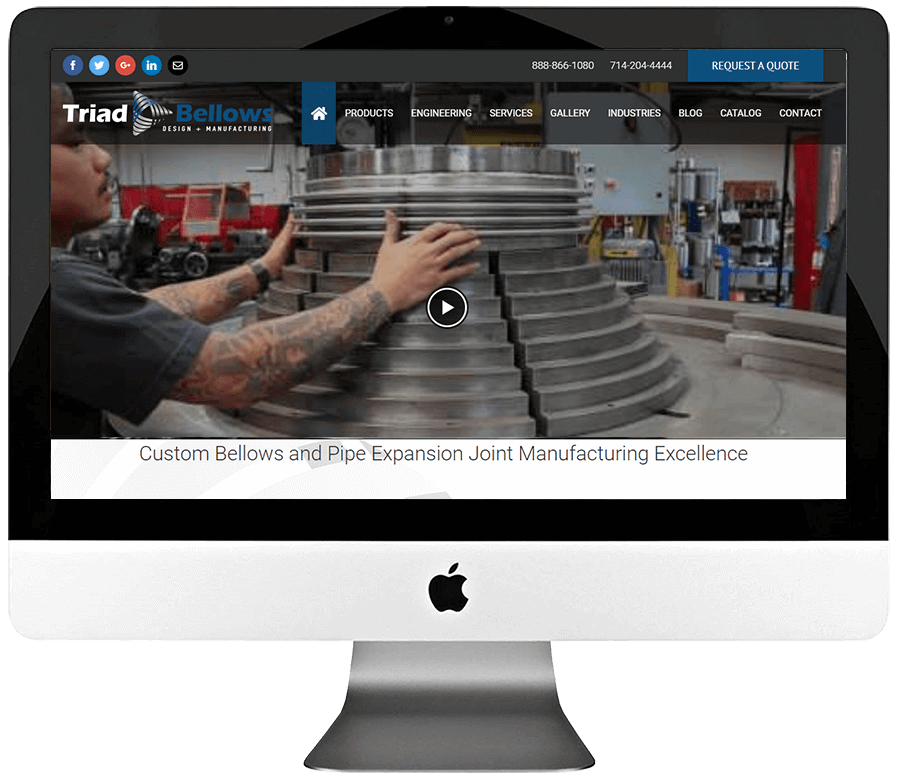 Industrial Manufacturer Responsive WordPress Website Development