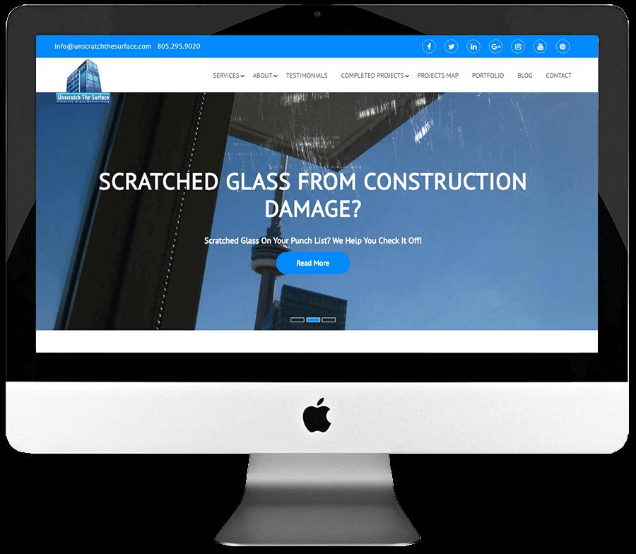 Glass Scratch Removal Company Responsive WordPress Website Design & Development