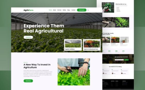 Agriculture Industry Responsive WordPress Website Design