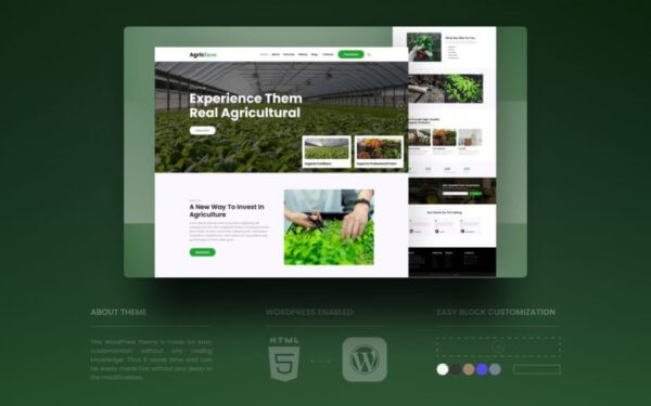 Agriculture Industry WordPress Website Development