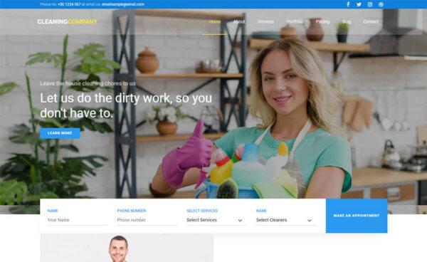 Cleaning Company Responsive WordPress Website Design