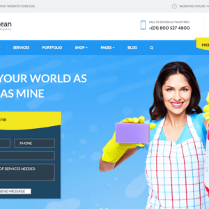 Cleaning Company WordPress Website Design Services