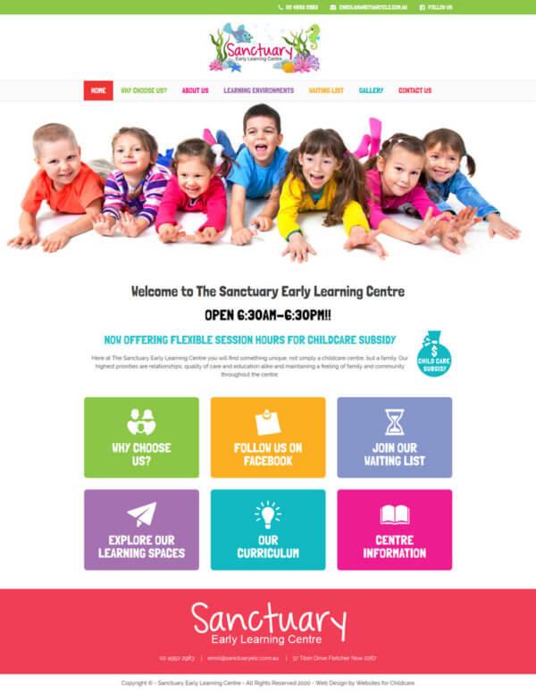 Daycare Responsive WordPress Website Design