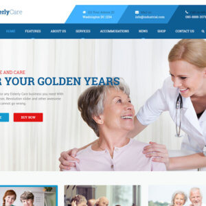 Elderly Care Responsive WordPress Website Design