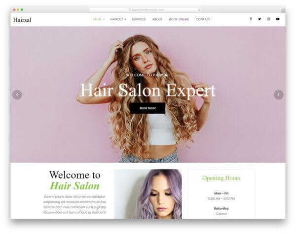 Hair Salon Responsive WordPress Website Design