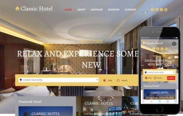 Hotel Responsive WordPress Website Design