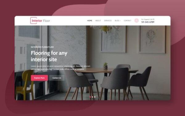 Interior Designers Responsive WordPress Website Design