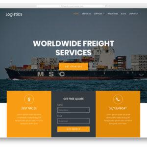 Logistics WordPress Website Design