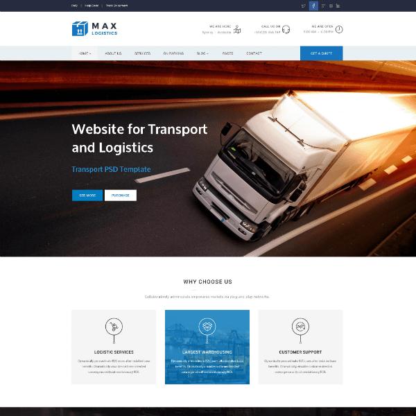 Logistics WordPress Website Design Agency