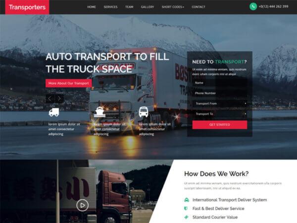 Logistics WordPress Website Design Services