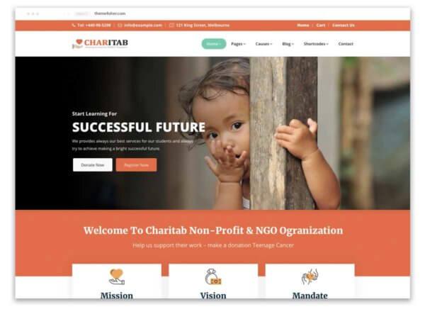 Non-profit WordPress Website Design Agency