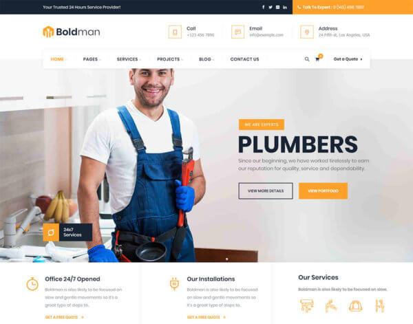 Plumbing WordPress Website Design